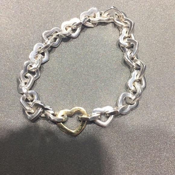 54e34c8213f Tiffany & Co. Jewelry | Tiffany Co Heart Link Bracelet | Poshmark